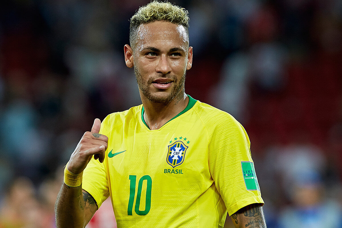 تیپ دوم موی نیمار در جام ۲۱