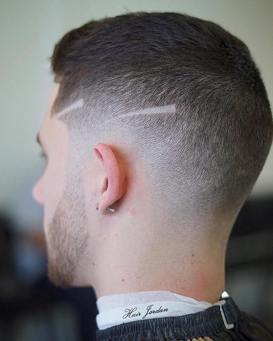مدل مو فید طرح دار مردانه