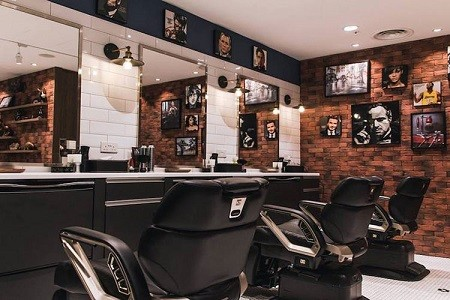 رنگ دیوار و دکور داخلی آرایشگاه مردانه 2020