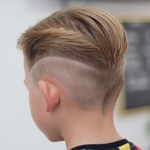 مدل موی فید طرح دار برای پسربچه ها