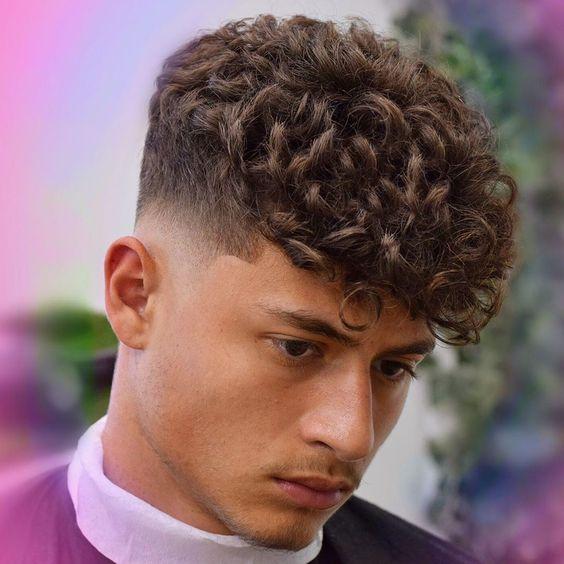 مدل مو سایه برای موهای فر مردانه 2021